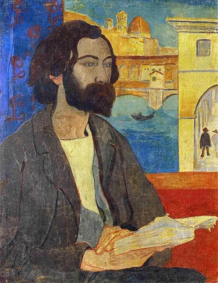 paul sérusier(1864-1927), portrait of émile bernard at florence, 1893. tempera on canvas, 73 x 56.5 cm. private collection