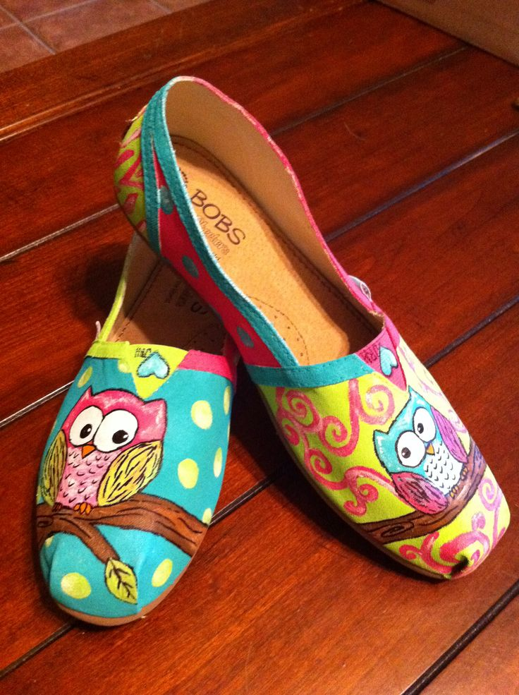 Owl shoes that my daughter made for me.