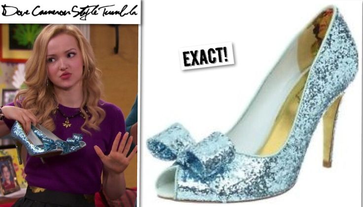 Dove (as both Liv and Maddie) wore these heels on Shoe A Rooney. Ted Baker Blue Glitter Pumps Sold Out  Available on eBay in size 7 for $89.10, here & size 9 for $200, here