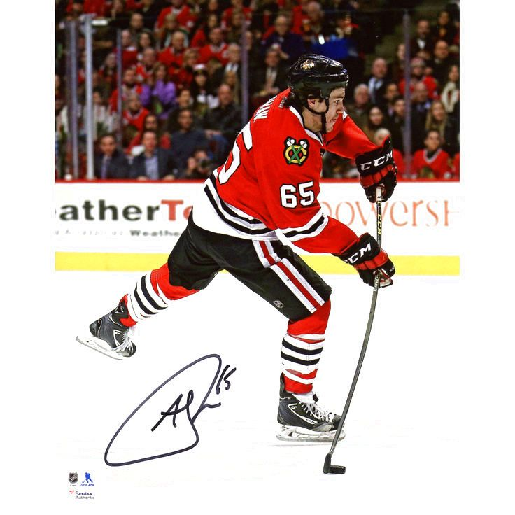 """Andrew Shaw Chicago Blackhawks Fanatics Authentic Autographed 8"""" x 10"""" Red Jersey Shooting Photograph - $23.74"""