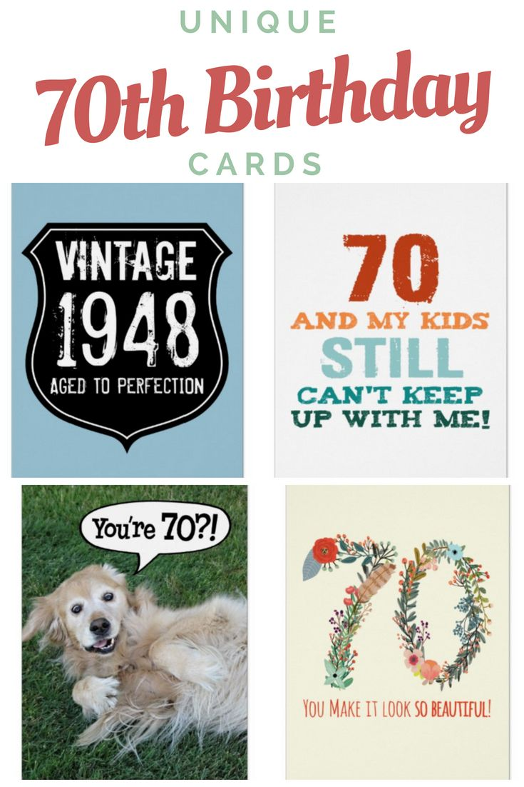 70th Birthday Cards For Husbands Dads Moms And More