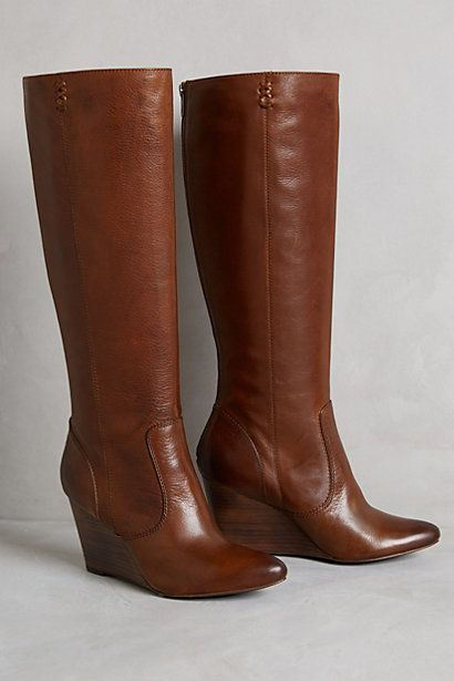 Frye Regina Wedge Tall Boots - anthropologie.com