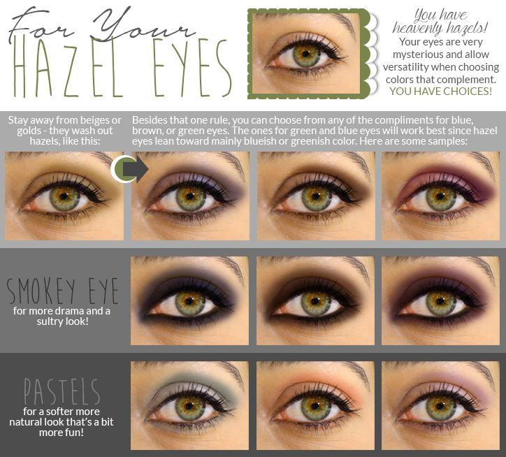 Make Hazel eyes pop! Great tips for all eye colors at this blog post!! http://thecreativeglow.blogspot.ca/2015/01/how-to-make-your-eyes-pop-basic-eye.html