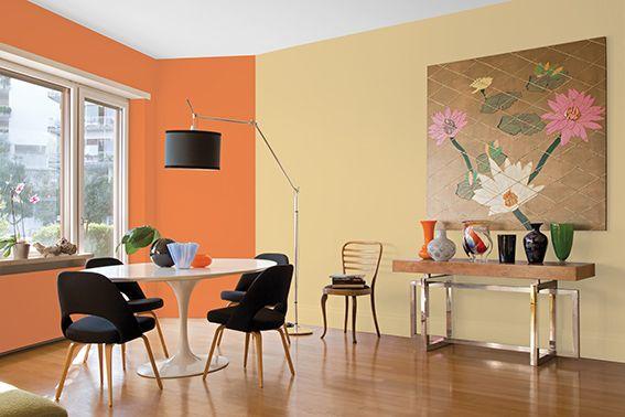 Un estilo vivaz y atrevido que cambia por completo el for Colores para pintar un apartamento moderno