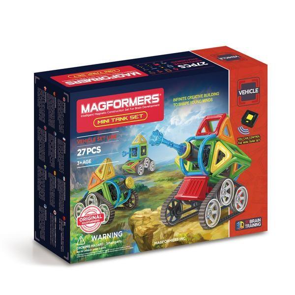 Magformers, magnetisk byggesæt - Mini tank 27 set