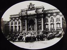 Glass Magic Lantern Slide THE TREVI FOUNTAIN ROME C1900 ROMA ITALY ITALIAN PHOTO