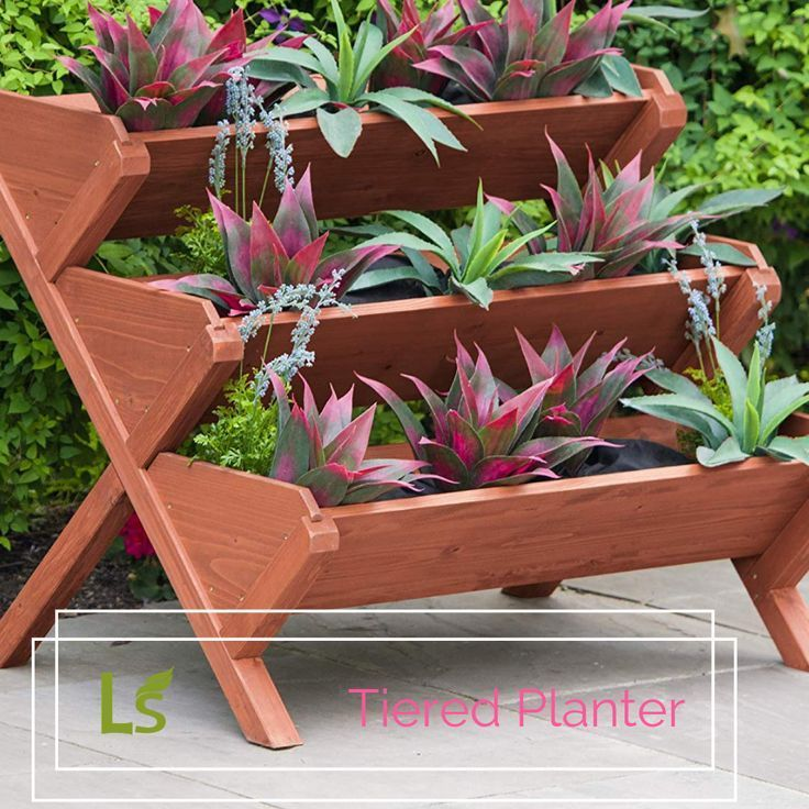 Tiered Raised Planter Planter Stand Vegetable Bed Vertical Planter