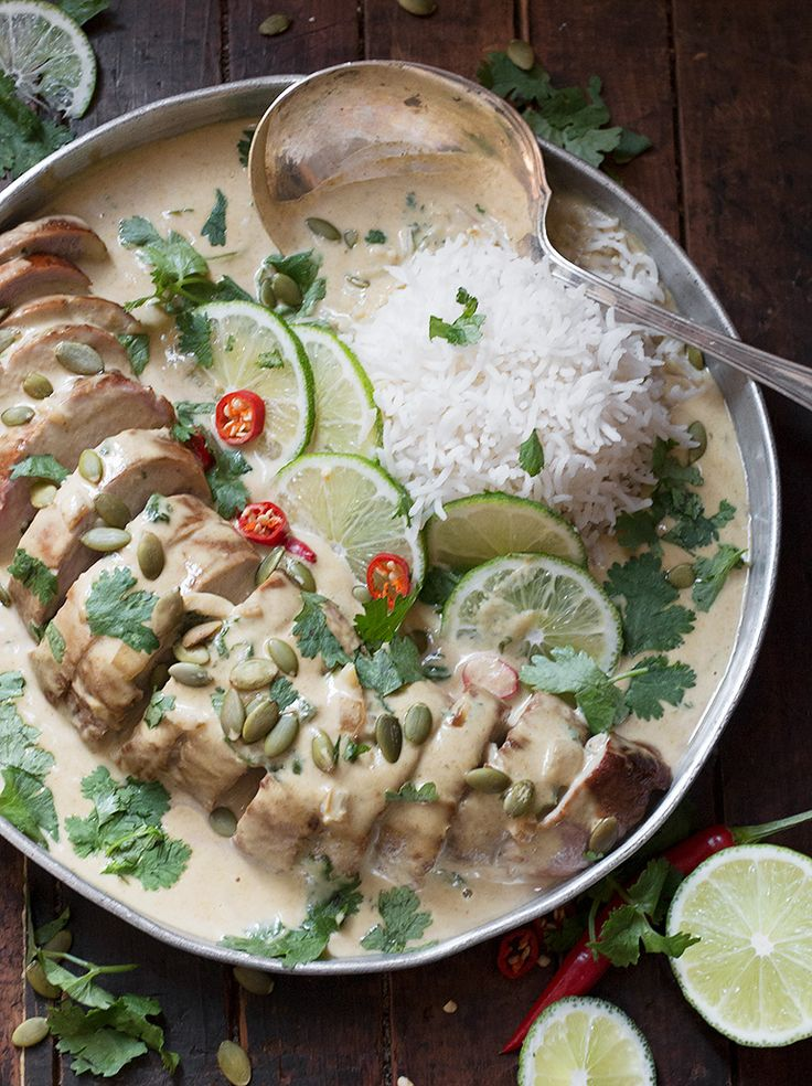 Thai Green Curry Pork Tenderloin _ga- Oh yessiree Bob, that's the ticket right there, donchaknow.