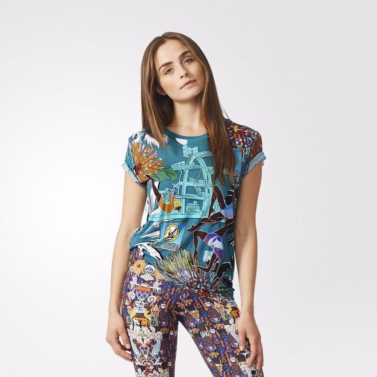 MARY KATRANTZOU X Adidas Originals S07436 SYNCHRONISED Boyfriend TEE SHIRT Top S #MARYKATRANTZOUXAdidas #Tshirt