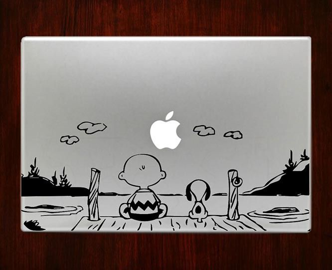 DecalOnTop.com - Snoopy and charlie brown Decal Sticker Vinyl For Apple Macbook Pro Air Retina 13 15 inch laptop decals, $8.99 (http://www.decalontop.com/snoopy-and-charlie-brown-decal-sticker-vinyl-for-macbook-pro-air/)