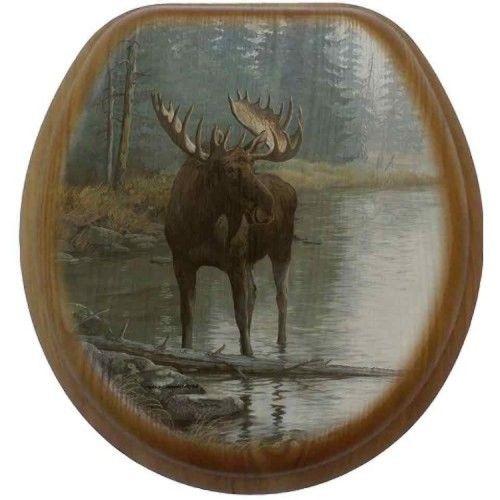 Quiet Water Moose Toilet Seats - Rustic Toilet Seats - Cabin Bath Accessories