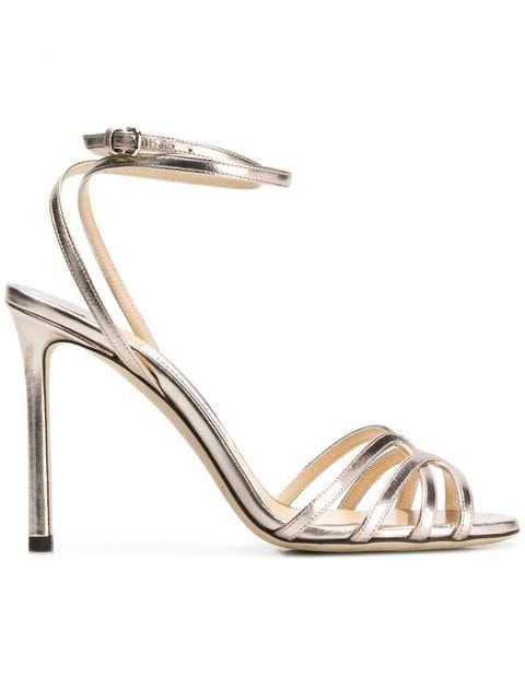 eb989cdd7775 Jimmy Choo Platinum Mimi 100 Sandals in 2019