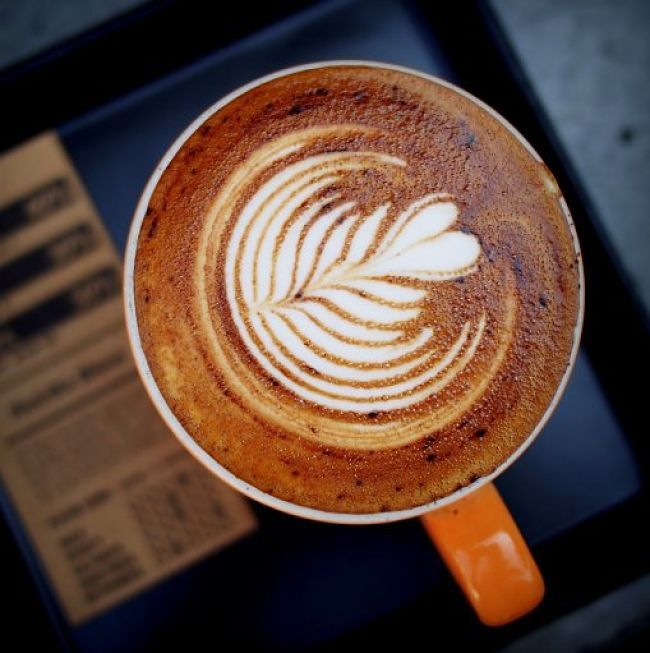 A beautiful example of Coffee Latte art