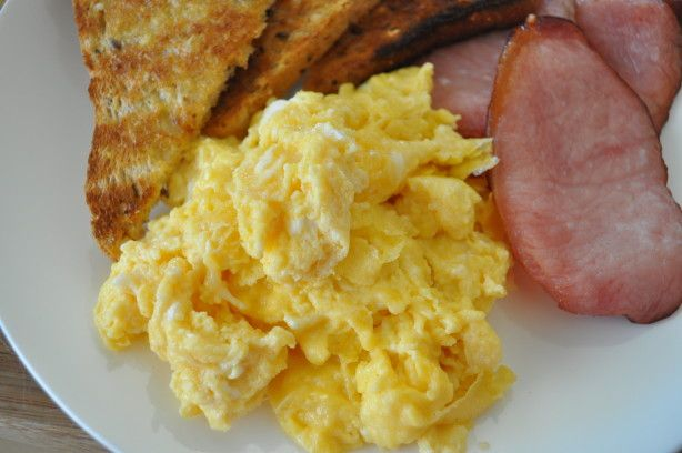 Make and share this Cheesy Scrambled Eggs recipe from Food.com.