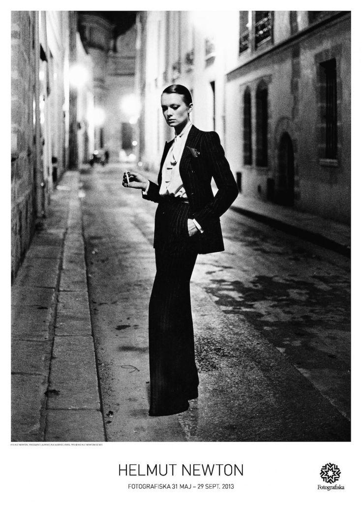 Helmut Newton Yves Saint Laurent, Rue Aubriot, Paris | Fotografiska