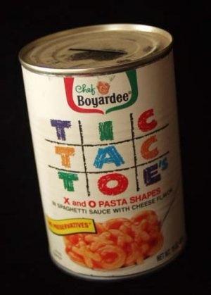 Chef Boyardee Tic Tac Toe Pasta