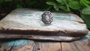 anel de prata símbolos budistas, budismo (3)