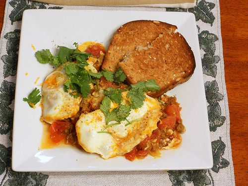 Moroccan Merguez Ragout with Poached Eggs by onlinepastrychef on ...