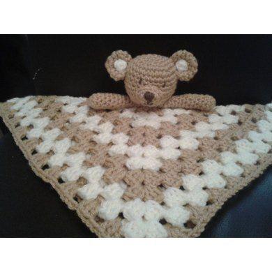 Teddy Bear Lovey / Security Blanket / Blankie Crochet pattern by Peach.Unicorn | Crochet Patterns | LoveCrochet