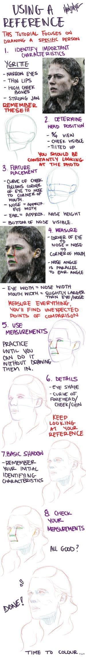 Me gustaría ser mejor en tomar notas de referencias! Yo sólo los uso para recrear, esto parece muy útil ^^ by paco197 #Drawingtips
