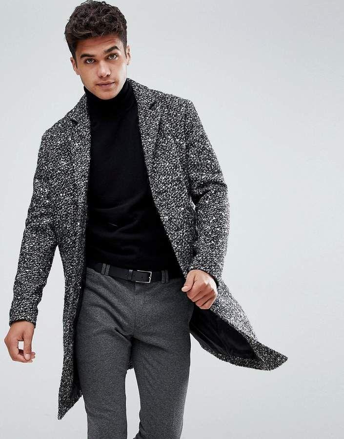 Jack   Jones Originals Wool Overcoat  b57d59d8ec1