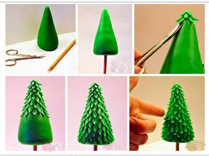 Fondant christmas tree Skiing cake Pinterest ...