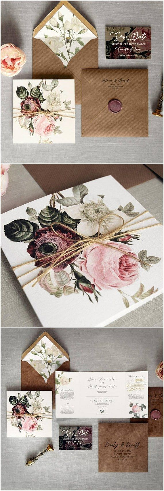 Luxury Folding Wedding Invitations #weddings #weddngideas #weddingcards #dpf #deerpearlflowers ❤️ http://www.deerpearlflowers.com/wedding-invitations-from-etsy/