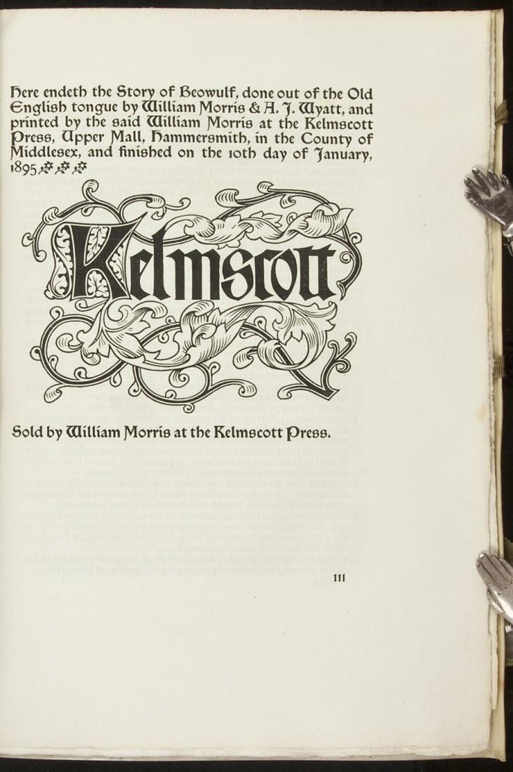 William Morris' Kelmscott Press Book Design