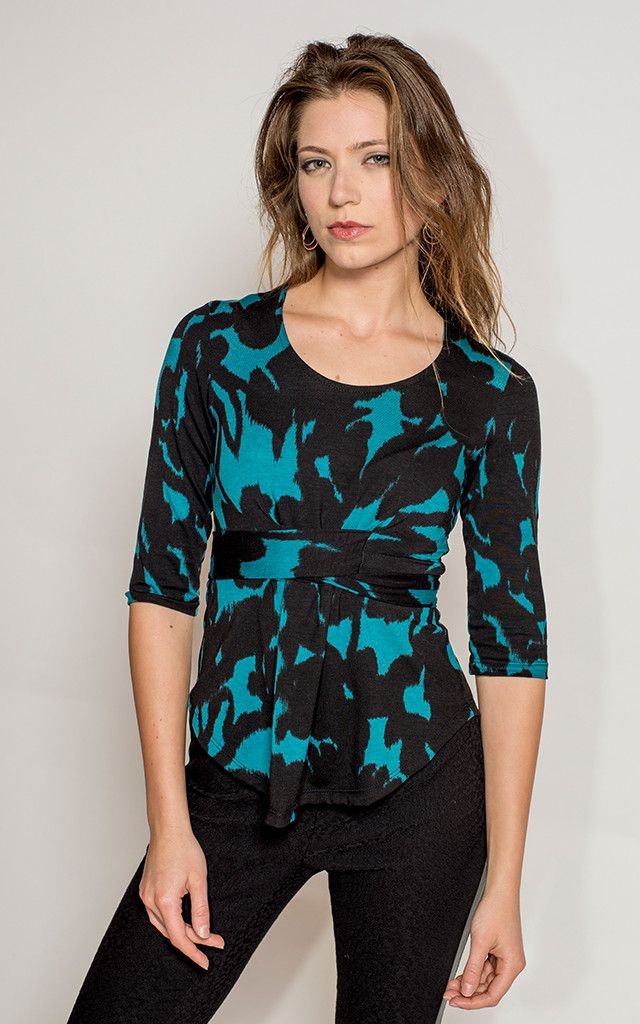 Laura L. Top in Abstract Teal