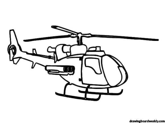 Helicopter Coloring Page A Helicopter Is A Type Of Rotorcraft In
