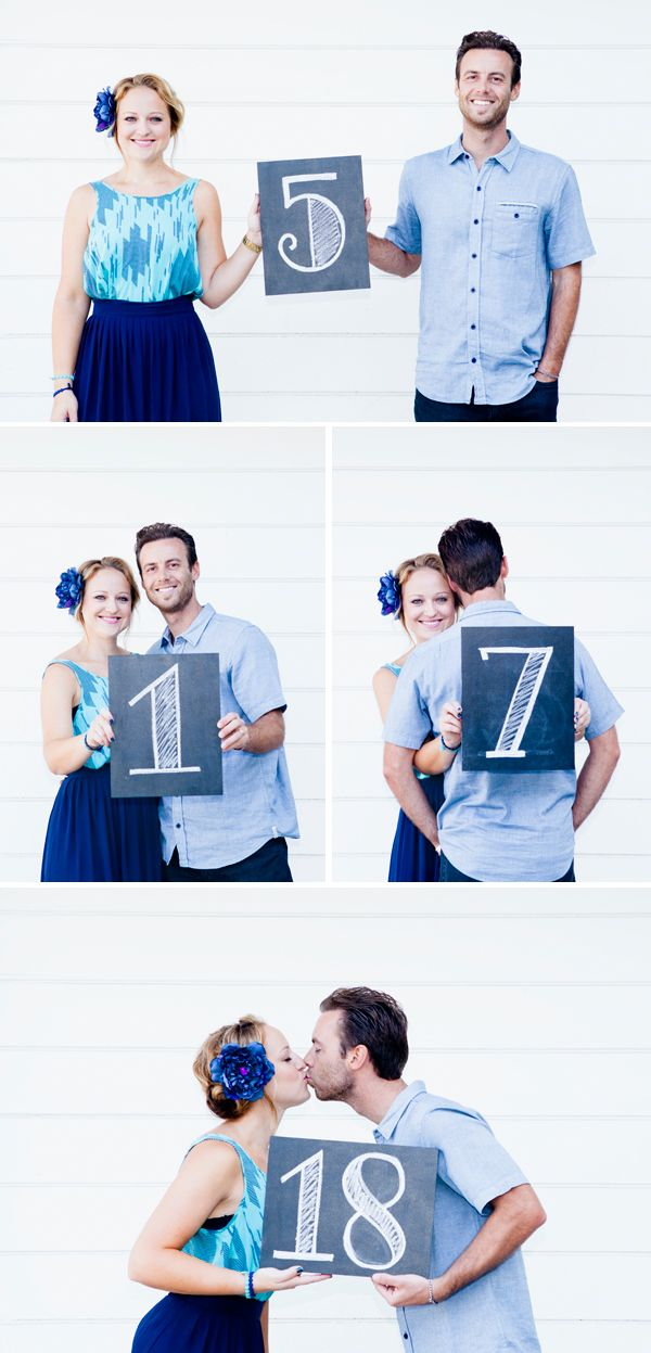 #DIYwedding - super easy chalkboard table number pictures! #somethingturquoise