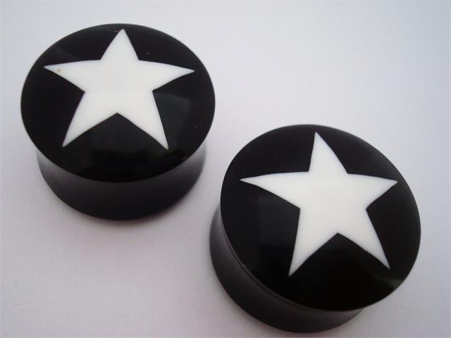 Urban Star Horn Star Plugs (6 gauge - 1 inch)