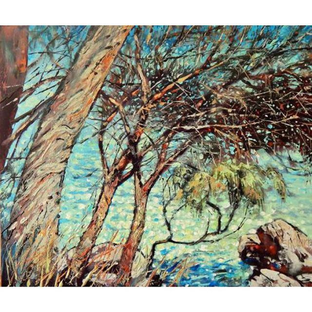 To the Island I by Stella Clarke #camberwellartshow #painting #artwork #art