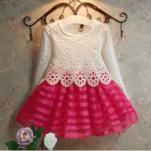 Wholesale 5pcs/lot Cotton lace baby girls dress kids dress christmas dress kids clothes vestidos de menina vestidos infantis(China (Mainland))