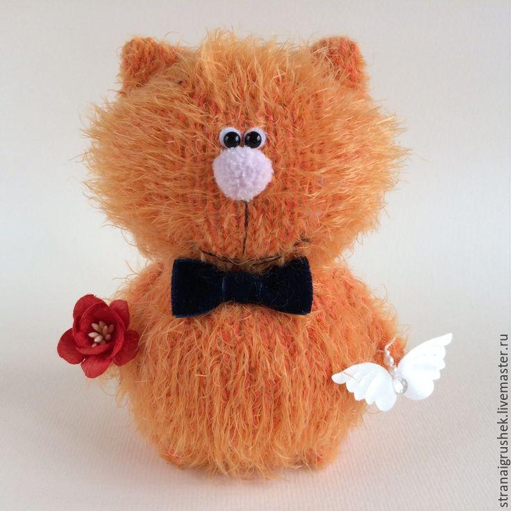 Купить Ангел Рыжик. - оранжевый, котенок, коты и кошки, вязаные коты, вязаная игрушка