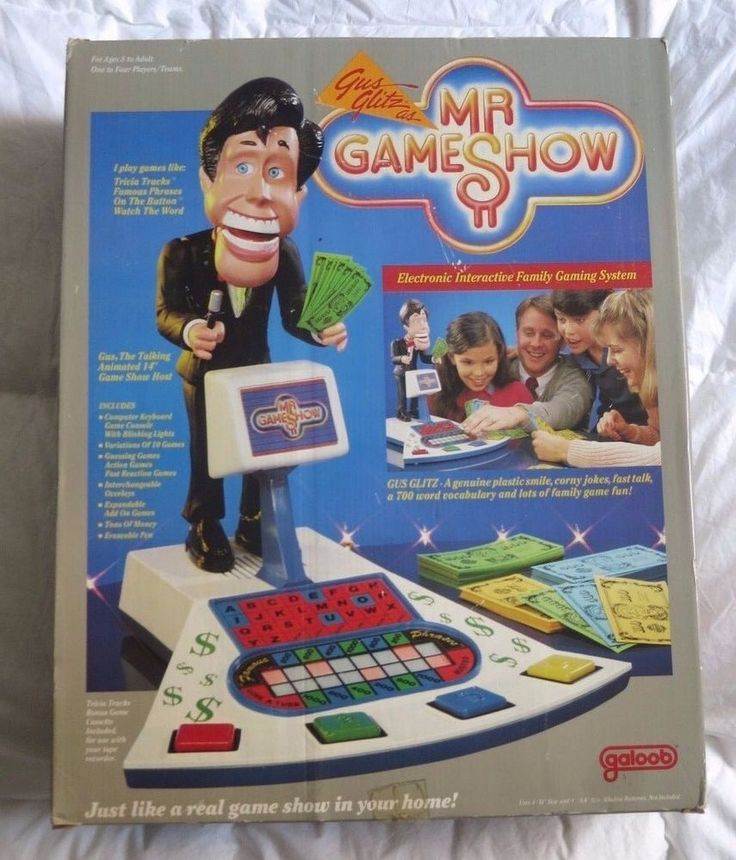Mr GAMESHOW Electronic Game Galoob TALKING Gus Glitz SHOW IOB 1987 Vintage NEW #Galoob