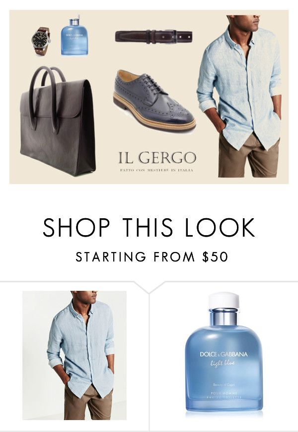 """Il Gergo Wight book blue"" by paolo-rossi on Polyvore featuring Dolce&Gabbana, TW Steel, men's fashion e menswear"