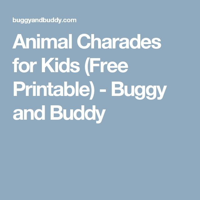 The 25+ best Charades for kids ideas on Pinterest | Ideas ...