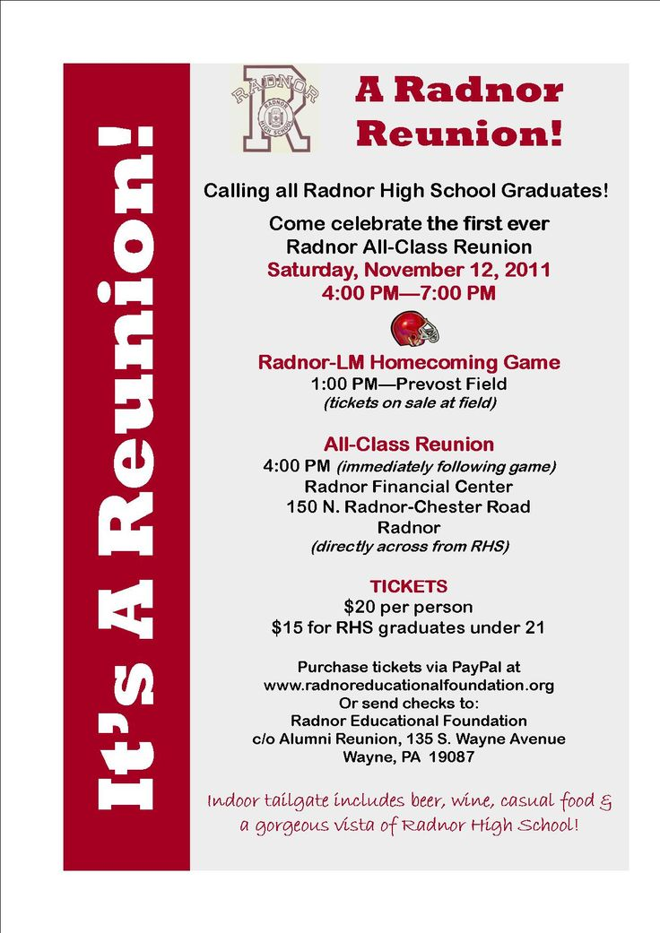 Class reunion invitations invitations pinterest for Class reunion program template