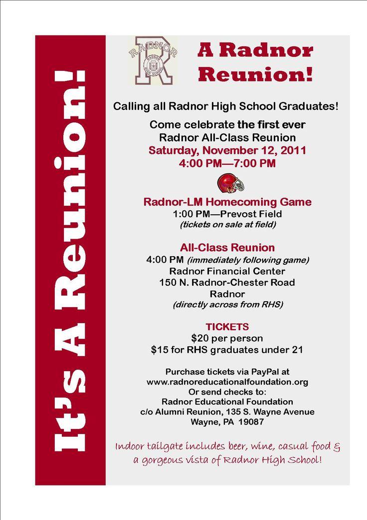 17 best High School Reunion Invitations images on Pinterest - class reunion invitation template