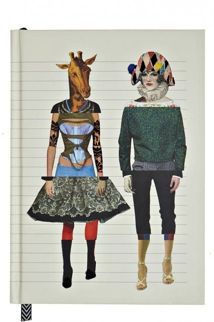 Exquisite corpse collage - Love Who You want Journal
