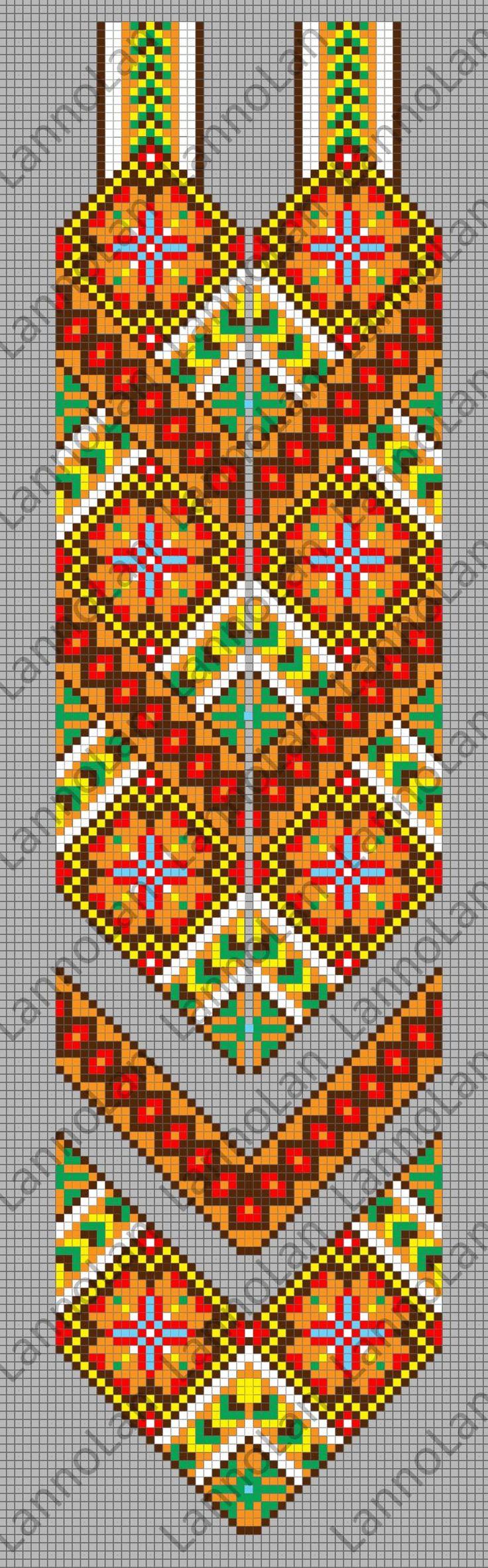 ukraine pattern - gerdan pattern - loom necklace ... inspired by: http://skrynya.ua/ru/etno-stil/etno-gerdany/p596697