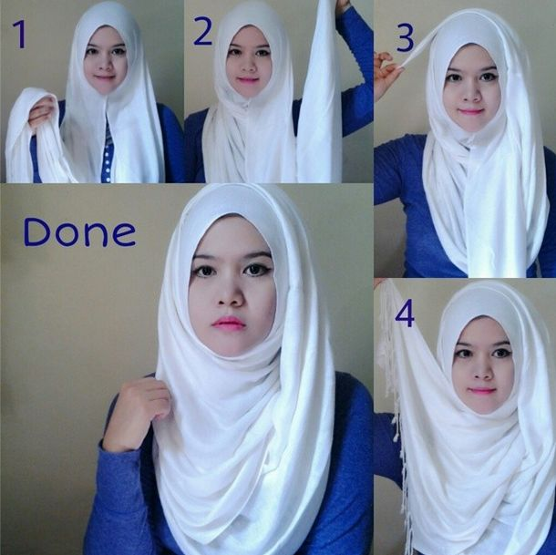 One of the easiest way to wear pashmina. This is cute :)