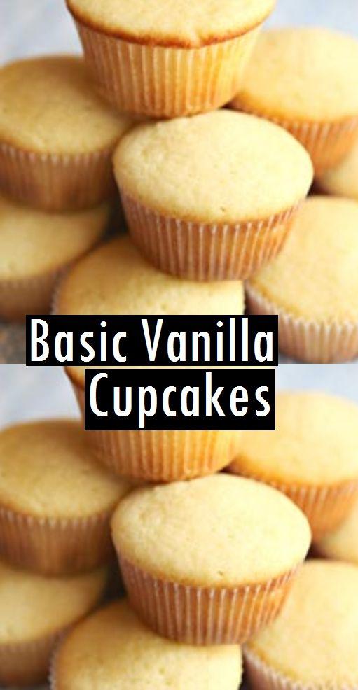 Basic Vanilla Cupcakes