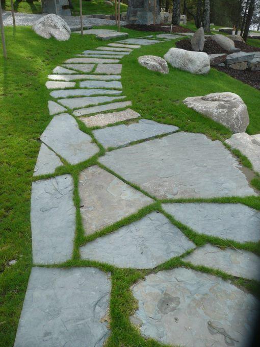 flagstone path in grass - Design Decoration