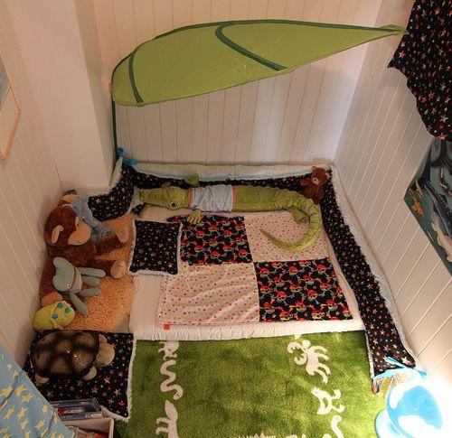 toddler floor bed