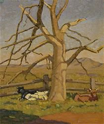 Sunny morning: Cows at Lanyon - Grace Cossington Smith