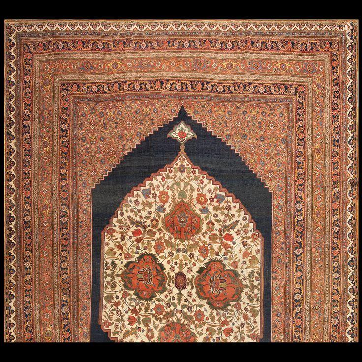 Bijar Rug - 5860 | Persian Formal 11' 8'' x 18' 2'' | Blue, Origin Persia…