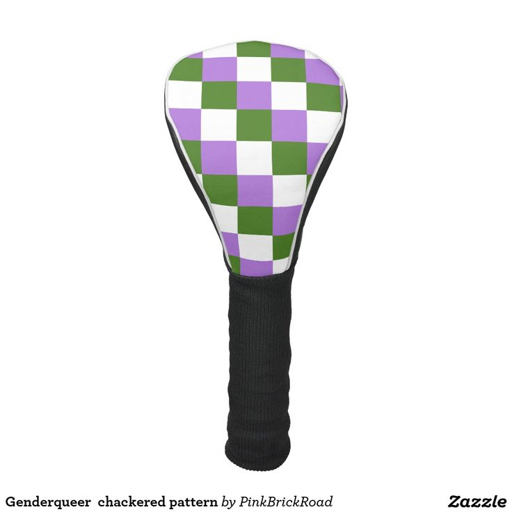 Genderqueer  chackered pattern golf head cover