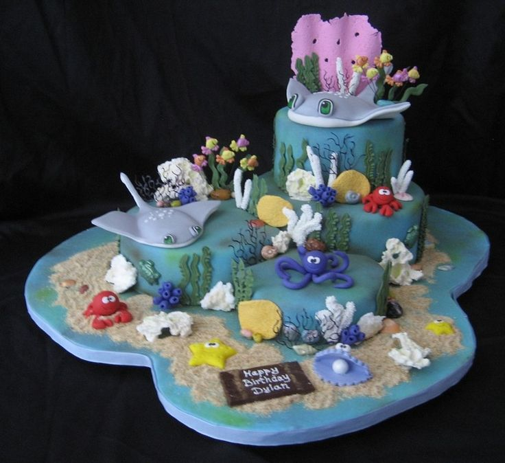 13 best Cakes OceanSea Creatures images on Pinterest Birthday